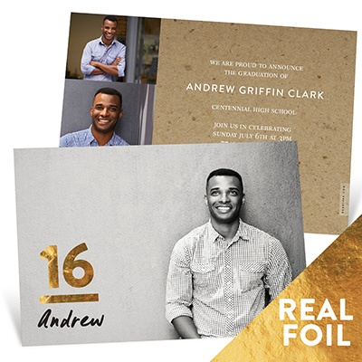 My Big Year Gold Foil Graduation Announcements