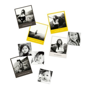 Photo Squares Table Decor -- Graduation Party Decorations
