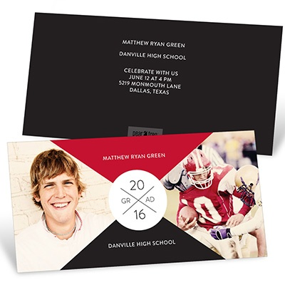 X Marks The Party Colors Graduation Announcements