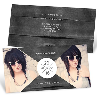 X Marks The Party Watercolor Graduation Announcements