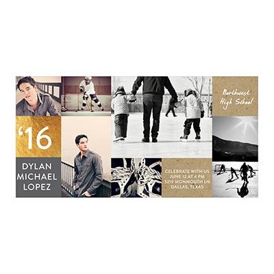 Photo Paper Kraft & Foil Graduation Announcements