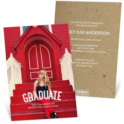 The Graduate Vertical Graduation Announcements