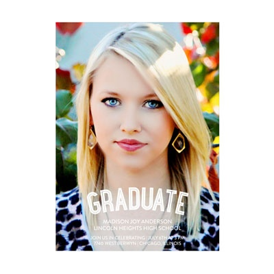 Photo Paper The Graduate Vertical Graduation Announcements