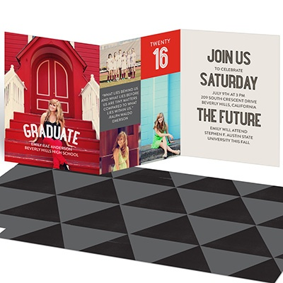 She's A Graduate Trifold Graduation Announcements