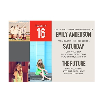 Photo Paper She's A Graduate Graduation Announcements