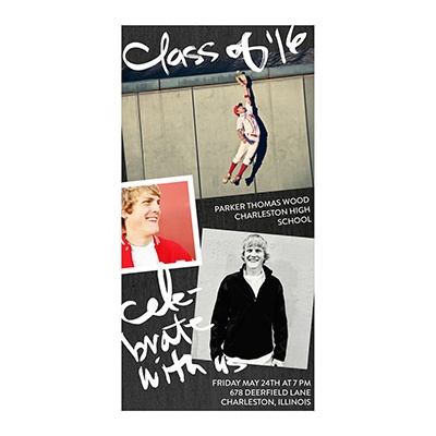 Photo Paper Chalk Talk Graduation Announcements