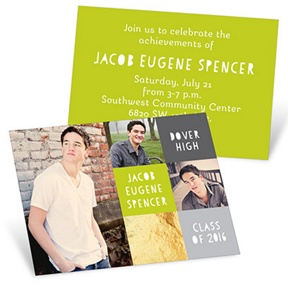 Proud Moment Squares -- Mini Graduation Announcements