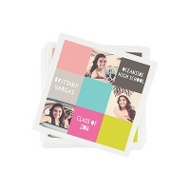Color Blocks & Photos Graduation Napkins