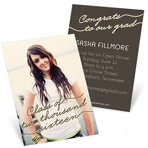 Follow The Script -- Mini Graduation Announcements