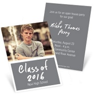 InstaInvite Mini Photo Mini Graduation Announcements