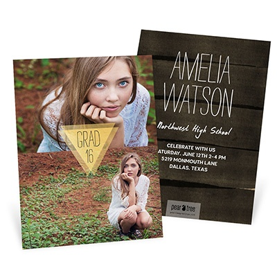 Good As Gold Vertical Graduation Announcements