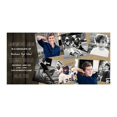 Photo Paper Scattered Memories Graduation Announcements