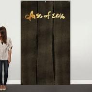 Black-Washed Kraft & Faux Foil Photo Backdrop Graduation Party Deco