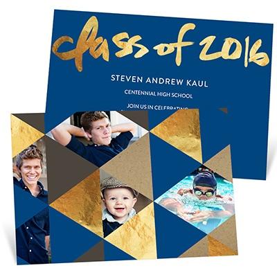 Faux Foil Prism Graduation Announcements