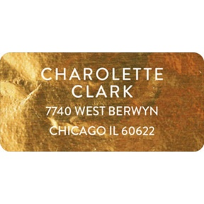 Gold Faux Foil -- Graduation Address Labels