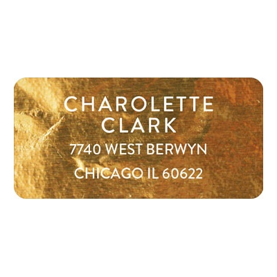 Gold Faux Foil Graduation Address Labels