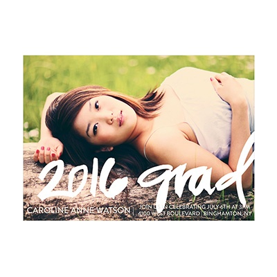 Photo Paper Colorful Year Graduation Announcements