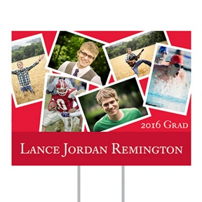 Senior Portraits Yard Sign -- Graduation Party Decorations