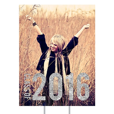 Glam Grad Vertical Yard Sign Graduation Party Decorations