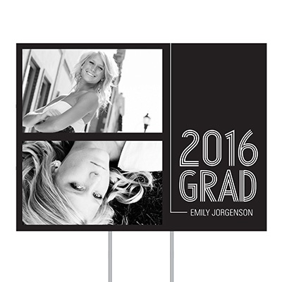 Striped Success Yard Sign Graduation Party Decorations