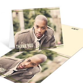 He's Invited -- Graduation Thank You Cards