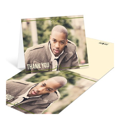 He's Invited Graduation Thank You Cards