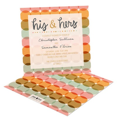 June Colors Bridal Shower Invitations