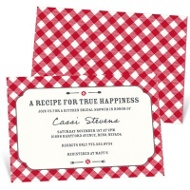 Gingham Tablecloth Bridal Shower Invitations