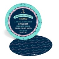 With This Ring Buoy Bridal Shower Invitations