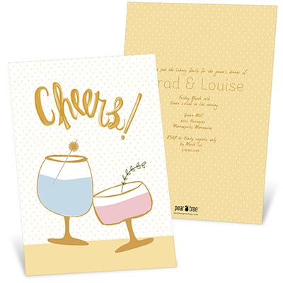 Cheers To The Happy Couple Rehearsal Dinner Invitations