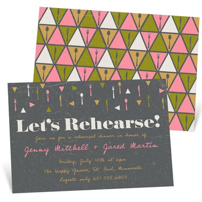 Let's Rehearse Rehearsal Dinner Invitations