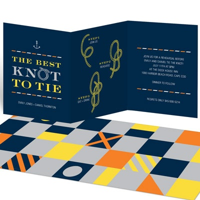 Tie The Right Knot Rehearsal Dinner Invitations