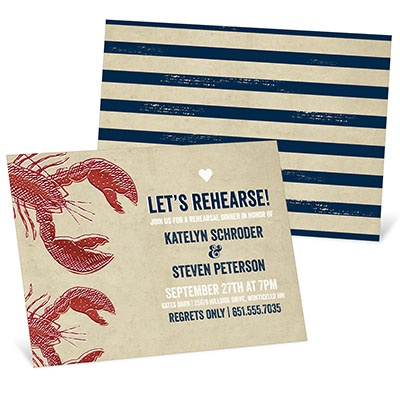 Surf & Rehearse Rehearsal Dinner Invitations