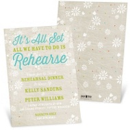 All Set Rehearsal Dinner Invitations