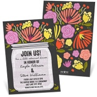 Jar Of Flowers Rehearsal Dinner Invitations