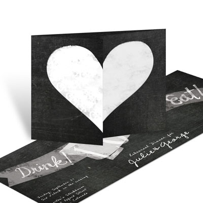Open Your Hearts Rehearsal Dinner Invitations