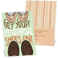 Rehearsal Shoes Rehearsal Dinner Invitations