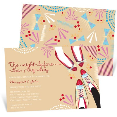 Night Before Rehearsal Dinner Invitations