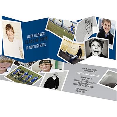Snapshots Five Panel Graduation Announcements