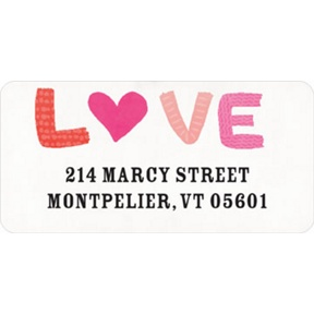 Love Doodles -- Valentine's Day Address Labels
