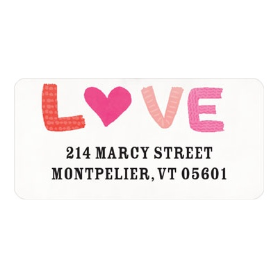 Love Doodles Valentine's Day Address Labels