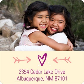 Hearts & Photos -- Valentine's Day Address Labels