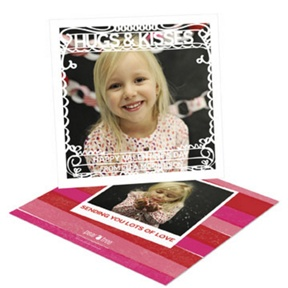 Swirling Frame -- Valentine's Day Photo Cards
