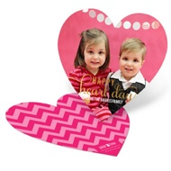 Heart Shaped Photo Valentine's Day Photo Cards