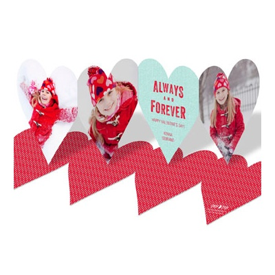 Always Heart Paper Chain Valentine's Day Photo Cards