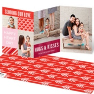 Heart Day Tri Fold Valentine's Day Photo Cards