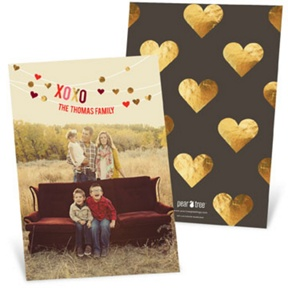 Hanging Hearts Vertical -- Valentine's Day Photo Cards