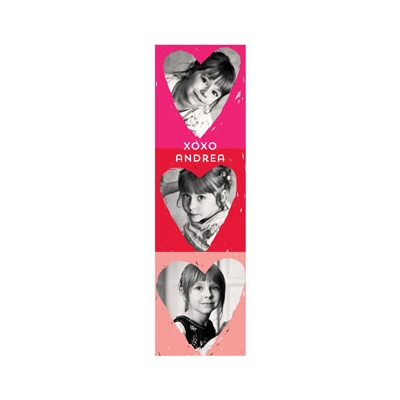 Photo Paper Colored Heart Frames Valentine's Day Cards For Kids