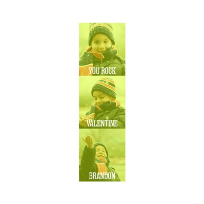Photo Paper Green Screen Valentine's Day Cards For Kids