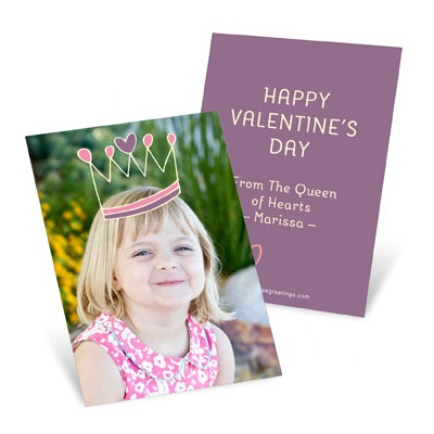 Crown Me Princess Valentine's Day Cards For Kids